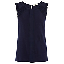 Buy Oasis Pleat Shell Detail Top Online at johnlewis.com