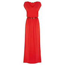Buy Oasis V-neck Maxi Dress, Coral Online at johnlewis.com
