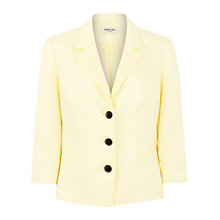 Buy Precis Petite Linen Jacket, Lemon Online at johnlewis.com