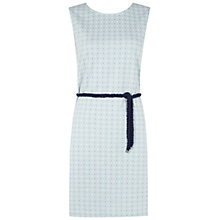 Buy Hobbs Anchor Print Dress, Sky Blue Online at johnlewis.com