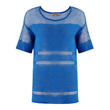 Buy Jigsaw Sheer & Solid Tunic Sweater Online at johnlewis.com