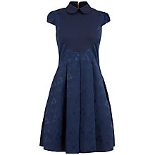 Buy Almari Penny Collar Jaquard Dress, Navy Online at johnlewis.com