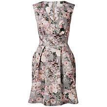 Buy Almari Floral Scuba Tulip Dress, Multi Online at johnlewis.com