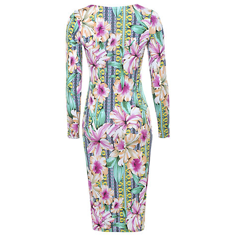 Buy True Decadence Midi Dress, Pink Tropical Online at johnlewis.com