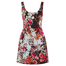 Buy Oasis Ria Lantern Dress, Multi Online at johnlewis.com