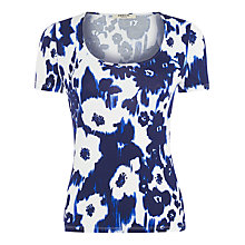 Buy Precis Petite Ikat Print Jersey Top, Dark Multi Online at johnlewis.com