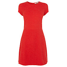 Buy Oasis Paisley Jacquard Skater Dress, Mid Red Online at johnlewis.com