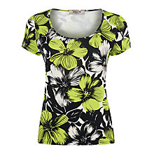 Buy Precis Petite Floral Print Jersey Top, Multi Dark Online at johnlewis.com