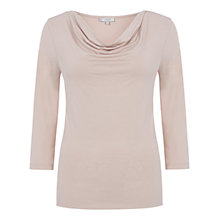 Buy Hobbs Sophia Cowl Neck Top, Rose Bud Pink Online at johnlewis.com