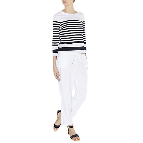 Buy Hobbs Polencia Trousers, White Online at johnlewis.com