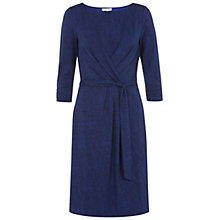 Buy Hobbs Melinda Wrap Dress, Brilliant Blue Online at johnlewis.com