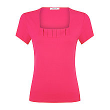 Buy Precis Petite Box Pleat Top, Bright Pink Online at johnlewis.com