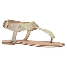 Buy Carvela Klassic Flat Sandals, Gold Online at johnlewis.com