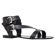 Buy Carvela Kuddle Flat Leather Sandals Online at johnlewis.com