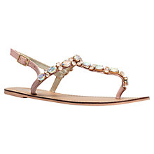 Buy Carvela Kurrant Jewelled Leather Flat Sandals Online at johnlewis.com