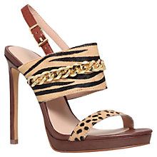 Buy KG by Kurt Geiger Hectic High Heeled Stiletto Leather Sandals Online at johnlewis.com
