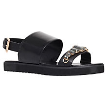 Buy KG by Kurt Geiger Nickel Jewel Embellished Sandals, Black Online at johnlewis.com