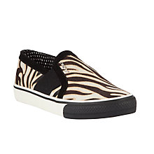 Buy DKNY Barrow Pony Trainers, Tiger Print Online at johnlewis.com