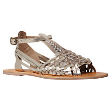 Buy Carvela Karma Woven Leather Sandals, Gold Online at johnlewis.com