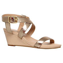 Buy Carvela Kouple Mid Heel Leather Wedges Online at johnlewis.com