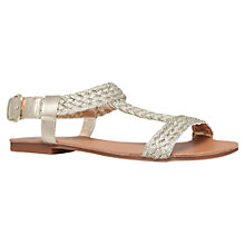 Buy Carvela Kay Flat Sandals, Gold Online at johnlewis.com