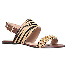 Buy KG by Kurt Geiger Magic Flat Sandals, Tan Online at johnlewis.com