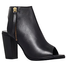 Buy KG by Kurt Geiger Nelson Leather Ankle Boots, Black Online at johnlewis.com