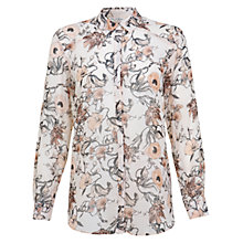 Buy Miss Selfridge Georgie Floral Shirt, Cream Online at johnlewis.com