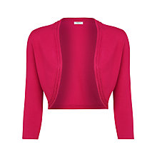 Buy Precis Petite Cable Edge Shrug, Bright Pink Online at johnlewis.com