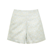 Buy Miss Selfridge Jacquard Shorts, Mint Green Online at johnlewis.com
