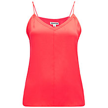 Buy Whistles Nell Shoestring Vest Top, Coral Online at johnlewis.com
