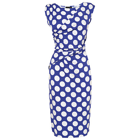 Buy Phase Eight Sicily Spot Dress, Periwinkle/White Online at johnlewis.com