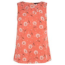 Buy Oasis Daisy Petal Neck Top, Coral Online at johnlewis.com