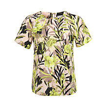 Buy Miss Selfridge Floral Palm Printed T-Shirt, Multi Online at johnlewis.com