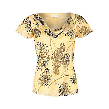Buy Jacques Vert Primrose Spring Floral Top, Primrose Online at johnlewis.com