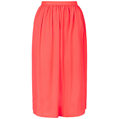 Buy Whistles Daisy Skirt, Coral Online at johnlewis.com