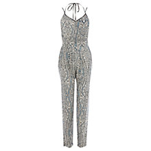 Buy Warehouse Paisley Cami Jumpsuit, Multi Online at johnlewis.com