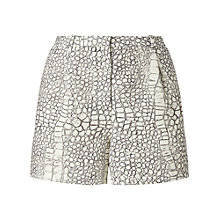 Buy Whistles Dragon Skin Shorts, Black/White Online at johnlewis.com