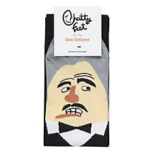Buy Chatty Feet Don Cottone Socks, Black Online at johnlewis.com