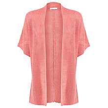 Buy Windsmoor Chunky Linen Cardigan, Coral Online at johnlewis.com