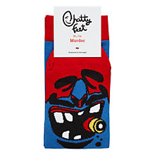 Buy Chatty Feet Murdock Socks, Blue Online at johnlewis.com