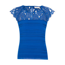 Buy Jacques Vert Lace Pleated Top Online at johnlewis.com