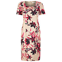 Buy Jacques Vert Floral Print Shift Dress, Multi Hot Pink Online at johnlewis.com