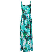 Buy Kaliko Palm Print Cami Layer Maxi Dress, Multi Green Online at johnlewis.com