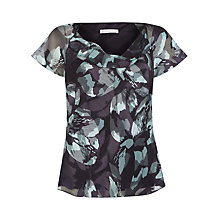 Buy Jacques Vert Floral Burnout Top, Multi Purple Online at johnlewis.com