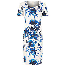 Buy Jacques Vert Tropical Print Shift Dress, Cream Multi Online at johnlewis.com