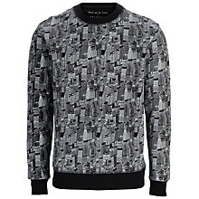 Buy Selected Homme Metropolis Daniel Van Der Noon Print Sweatshirt, Black Online at johnlewis.com