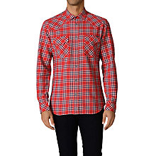 Buy Diesel Obba Checked Cotton Shirt, Red Check Online at johnlewis.com