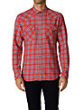 Diesel Obba Checked Cotton Shirt, Red Check
