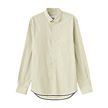 Buy Jigsaw Check Long Sleeve Shirt, Olive Online at johnlewis.com